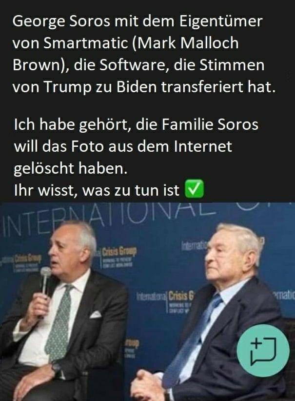 George Soros und Mark Malloch Brown von Smartmatic