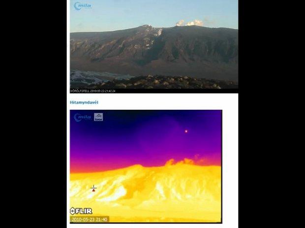 Unbekanntes Objekt über Vulkan Eyjafjallajoküll