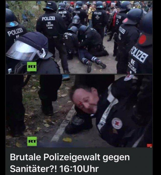 Polizeigewalt gegen Sanitäter!! 18.11.2020
